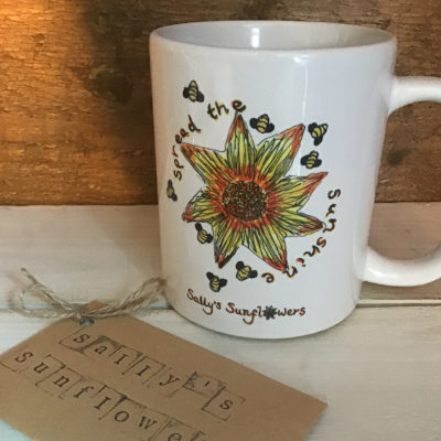 Sally's Sunflowers Spread The Sunshine Ceramic Mug