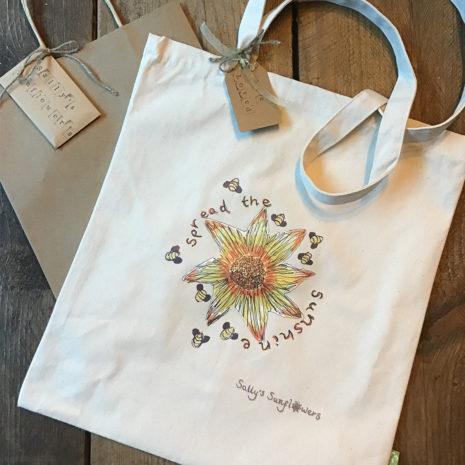 Sally's Sunflowers Spread The Sunshine Eco Canvas Bag For Life