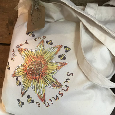 Sally's Sunflowers Spread The Sunshine Eco Canvas Bag For Life