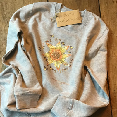Sally's Sunflowers 'Spread The Sunshine' Eco Cotton Sweatshirt