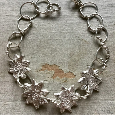 Sally's Sunflowers 'Spread The Sunshine' Silver Link Bracelet