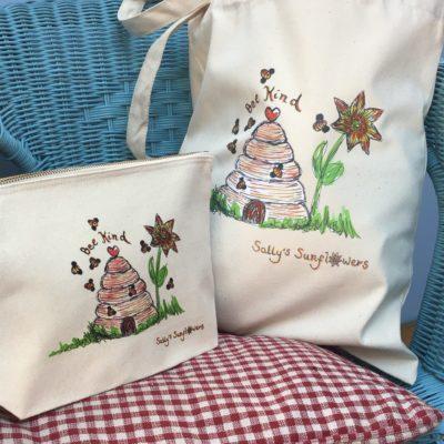 Sally's Sunflowers Bee Kind Eco Cotton Bags
