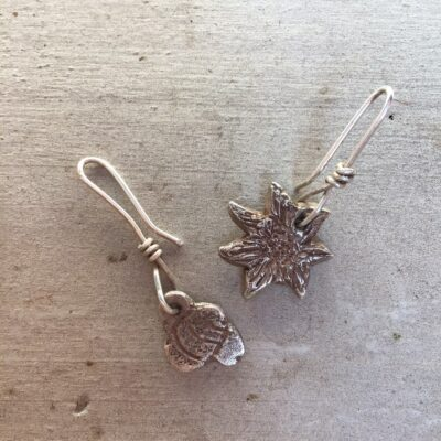 Sally's Sunflowers Sunflower & Bee Earrings