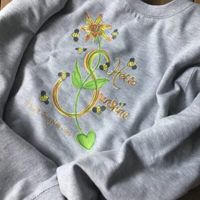 Sally's Sunflowers Hello Sunshine Sweatshirt