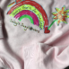 Baby Pink Rainbow Hoodie Kids