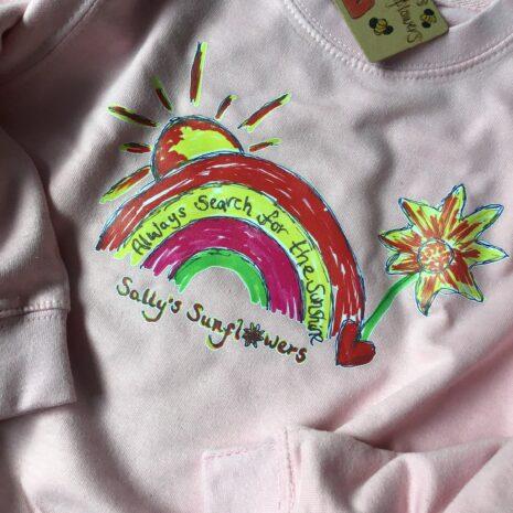 Baby Pink Kids Rainbow Sweatshirt