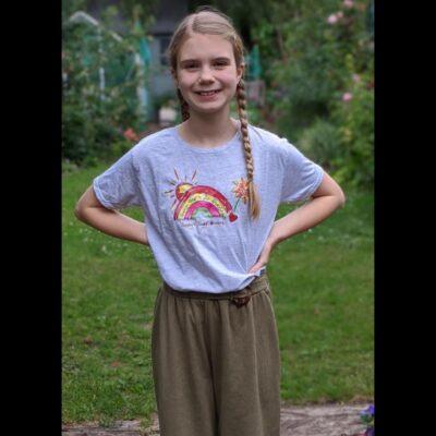 Sally's Sunflowers Sunshine Kids Rainbow T'Shirt