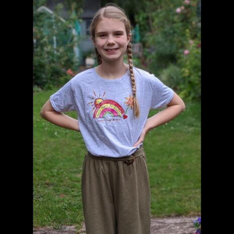 Sally's Sunflowers Sunshine Kids Rainbow T'Shirt