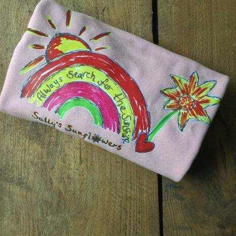 Baby Pink Rainbow Kids sweatshirt