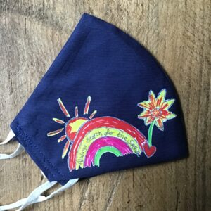 Sally's Sunflowers Rainbow Face Covering Navy