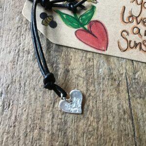 Sally's Sunflowers Silver Love & Sunshine Friendship Bracelet